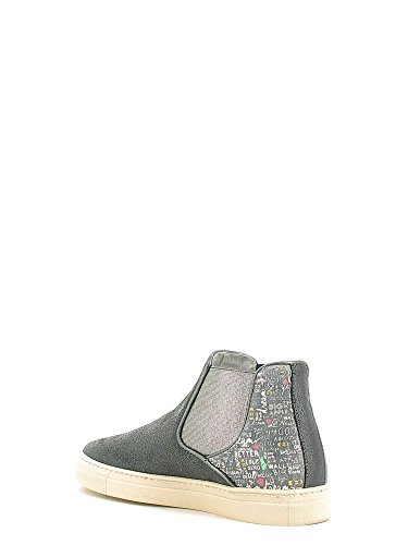 AYW309 WORDS AMERICAN DREAMS Scarpa donna sneaker beatles Y not? pelle nero Nero