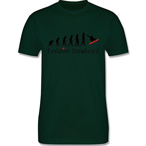 Evolution - Evolution Snowboard - Herren Premium T-Shirt Dunkelgrün