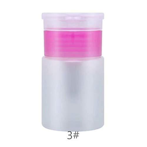 Breeezie Nail Art Mini Pumpspender Leere Flasche Acryl Gel Polish Remover Reiniger Flüssigkeitsbehälter Lagerung Kleine Druckflasche
