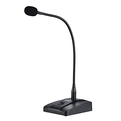 ammoon Microphone de Bureau Flexible à Condensateur Professionnel Par Fil avec Microphone Cardioïde avec Câble Amovible XLR à 1/4 de 10 Pieds pour La Diffusion de Conférences
