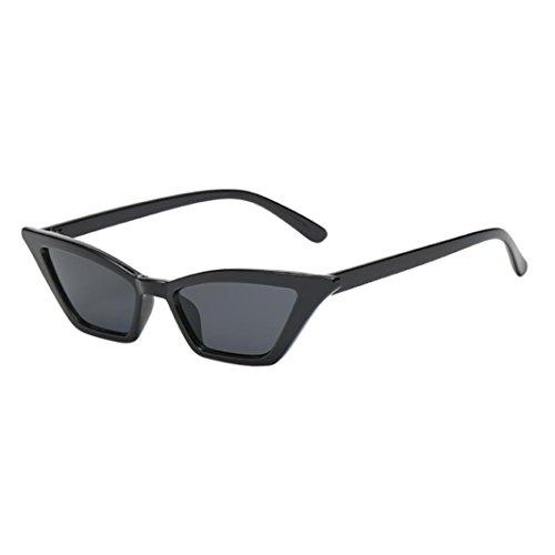 Makefortune Frauen Sonnenbrillen, Frauen-Weinlese-Katzenaugen-Sonnenbrille-Retro- kleiner Rahmen UV400 Eyewear arbeiten Damen-Gläser um (D)
