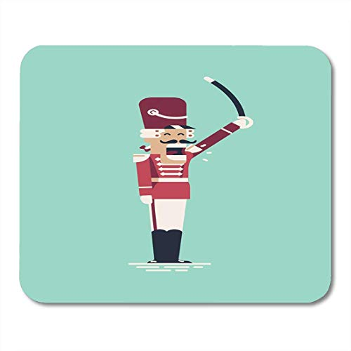 Mouse Pads Funny Shouting Hussar Guard Soldier in Parade Formal Dress Cool Vintage Colors Christmas Character Mouse Pad for Notebooks,Desktop Computers Mouse Mats, Office Supplies