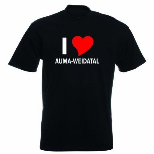 T-Shirt mit Städtenamen - i Love Aumaweidatal - Herren - unisex Schwarz