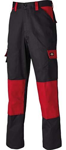 Dickies Everyday 24/7 Arbeitshose, passend zu SH2007 Shirts UVM (Schwarz/Rot, 50)