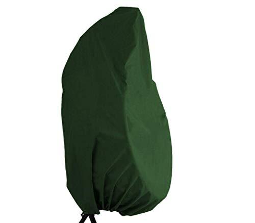 Abdeckung für Hängesessel,420D Oxford-Gewebe Garten Rattan Wicker Hängesessel Wasserdichte Möbel Schutzhülle Gartenmöbel, Schutzhülle mit elastischem Saum und Kordelzug (Grün)
