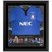 Everton Duncan Ferguson Limited Edition Signed Framed Shirt - One Size Only