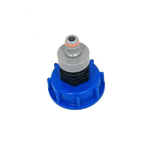 CMTech GmbH Montage Technik cm13599 Casquette Raccord S60 x 6 avec prise Convient pour Gardena, IBC conteneur de Accessoire pour réservoir d'eau de pluie adaptateur de raccord de bidon