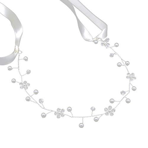 Stirnbänder Blüte Kranz Braut Kopfschmuck für Party Urlaub Hochzeitsfotografie (Silber) ()