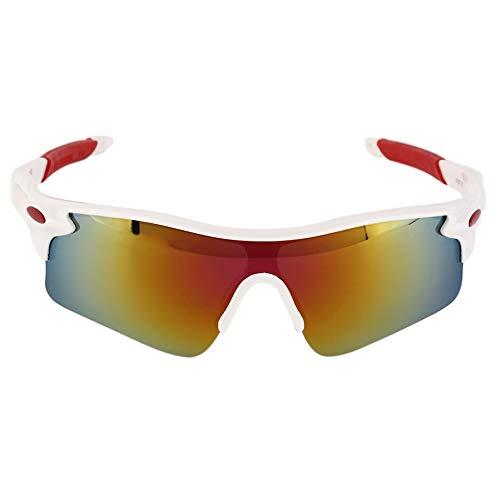 Sen-Sen Radfahren Fahrrad Reiten Sonnenbrillen Brillen Outdoor Sports Brillen Bike Goggle weiß & rot