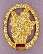 BW Barettabzeichen Bundeswehr, verschiedene Truppengattungen Farbe Jäger