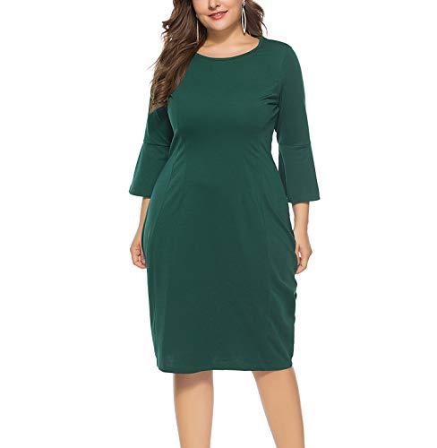 KILOLONE Damen Sexy Bodycon Kleid Plus Größe Cocktailkleid Abendkleid Partykleider