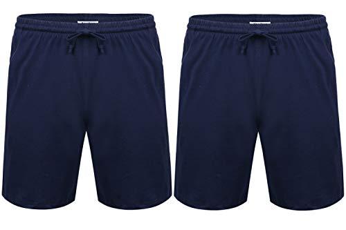 Aibrou Pantalon Pijama Corto Hombre Salón Pantalones