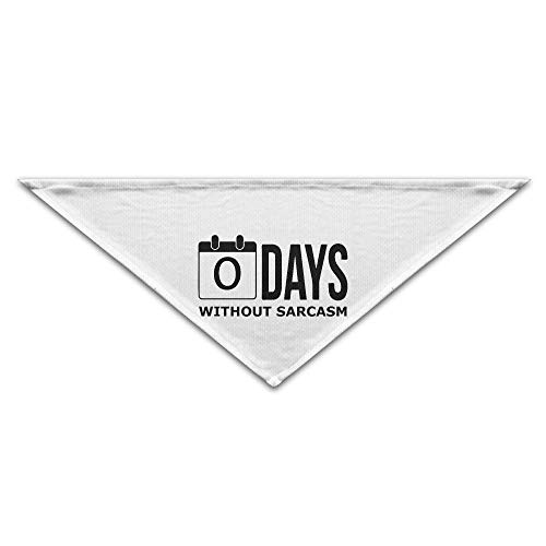 Rghkjlp Zero Days Without Sarcasm Pet Scarf Dog Bandana Pet Collars Triangle Neckerchief Puppy Bibs ()