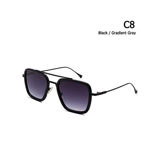 Sport-Sonnenbrillen, Vintage Sonnenbrillen, New Fashion Square Aviation Style The Flight 006 Sunglasses Men Women Brand Designer Sun Glasses Oculos De Sol Masculino C8
