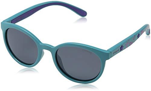 Polaroid Unisex-Kinder PLD 8014/S MF NE7 Sonnenbrille, Türkis (Turquoise/Grey), 46
