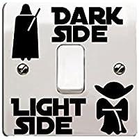 """'Star Wars de vinilo etiqueta/Calcomanía """"Dark Side–Light Side para interruptor de luz"""
