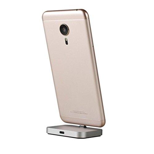 kingko Fast Wireless Charger, Drahtlose Schnellladegerät, Qi Ladegerät Kabelloses Induktive Ladestation für Samsung Galaxy Note 8/S8/S8 Plus/S7 Edge/S7/S6 Edge Plus/Note 5 (Silber) Desktop Charger Sync