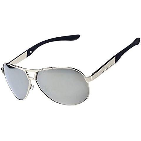 QHGstore Mens occhiali da sole polarizzati Classic
