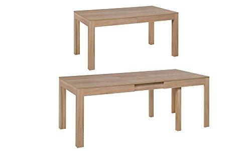 MPS groß praktisch Tisch WENUS 160-300 x 90 x 76 cm (L x B x H) im Eiche Sonoma für Esszimmer, 4-12 Personen Esstisch mit ausziehbarer Tischplatte auf 300 cm, ausziehbar Küchentisch, Esszimmertisch, Ausziehtisch