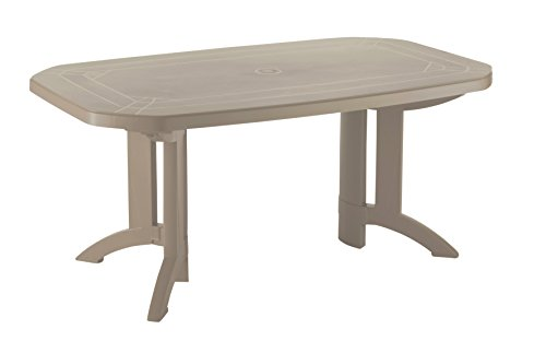 GROSFILLEX Vega Table, Lin, 165 x 100 x 72 cm
