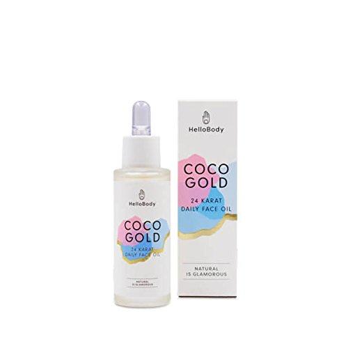 HelloBody Coco Gold Face Oil (30ml) – Veganes Gesichtsöl für trockene Haut – Natürliche...