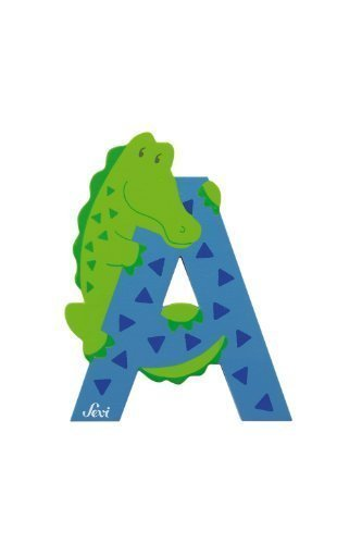Trudi 81601 - Sevi Tierbuchstabe Alligator A hellblau