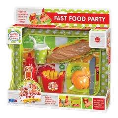 Sconosciuto Unknown PLAYSET Fast Food Party 19 PZ, Multicolor, 10501