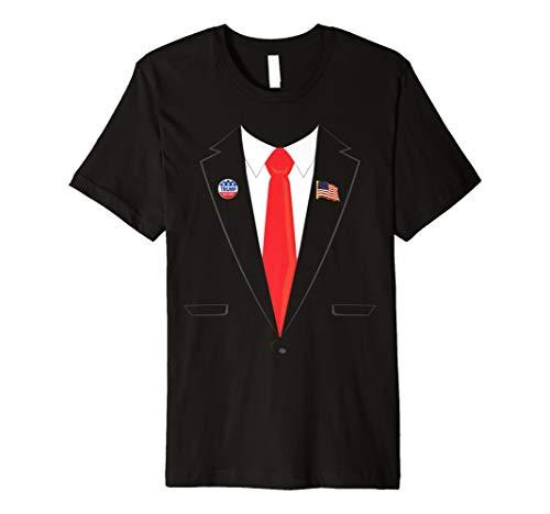 Smoking Präsident Halloween Trump Pin Kostüm T-Shirt