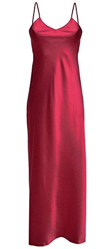 Lady-Mode Negligee aus Satin Iga (XS - 2XL) Bordeaux