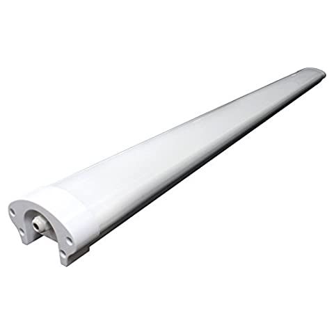LED Tri-Proof Batten Tube Light IP65 (Water Resistant) ideal for Outdoor Car Parks, Industrial Warehouse Areas, Stores or Shops (1500x95x60mm / Pack of 1, 4000K Natural