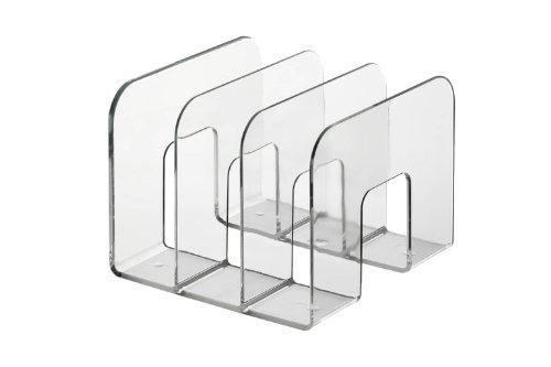 DURABLE - Porta cataloghi Trend, 3 comparti, per cataloghi e brochure, 215x165x210 mm, trasparente (cod. #1701395400)