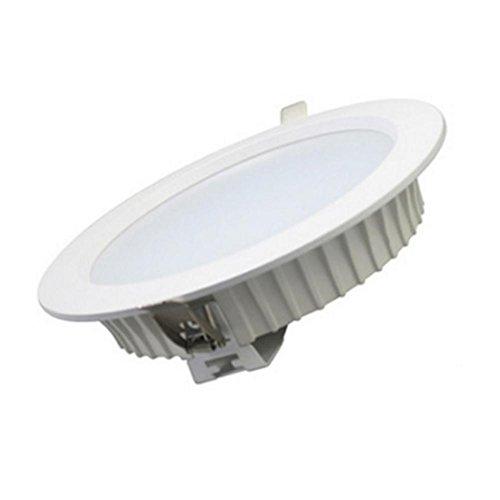 ZxTL 12W Ultra-dünn Runde LED Einbau Panel Licht, Dimmbar Decke Flach Strahler, 220V, Super hell Downlight Kommerzielle Beleuchtung , nature white