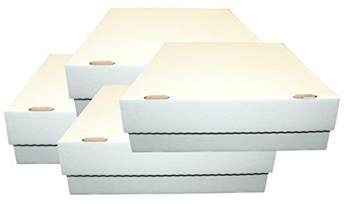 TCG 4 Aufbewahrungboxen - Deck-Boxen für je 4000 Karten (Magic / Pokemon / YuGiOh Karten) (1000-karte Aufbewahrungsbox)
