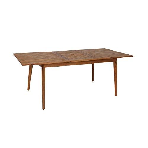 greemotion Garten-Esstisch ausziehbar Sylt - Design-Gartentisch aus Akazie - Ausziehbarer Tisch aus...