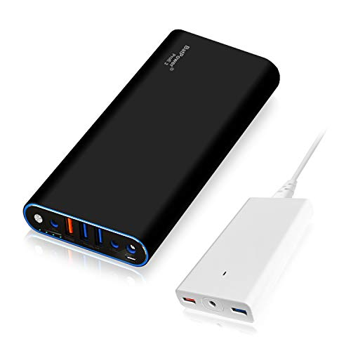 BatPower ProE 2 EX10B Power Bank Batterie Externe Batterie Portable pour Apple Macbook Pro Macbook Air Mac Retina 2006-2015 Laptop, QC 3.0 Ports USB Charge Rapide pour Tablette et Smartphone -148Wh