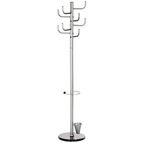 Alco Kaktus Coat Baum mit 8Klammern und Schirmständer, Metall grau, 172,7x 40,6cm (2802)