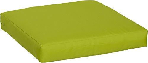 Gartenstuhl-Kissen Premium Lounge Sitzkissen Palettenkissen im Farbton hellgrün ca. 50 x 50 cm ca. 9 cm dick aus 100% Polyester wasserabweisend