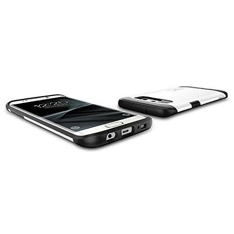 Coque Galaxy S7 Edge, Spigen [Slim Armor] AIR CUSHION [Shimmery White] Air Cushioned Corners / Dual Layer Protective Coque Samsung Galaxy S7 Edge (2016) - (556CS20039)