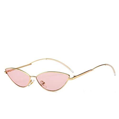 Kjwsbb Sonnenbrille Frauen Retro Kleine Bi-Color Dünne Gesicht Sonnenschutz Unisex Sonnenbrille Schwarz Rosa