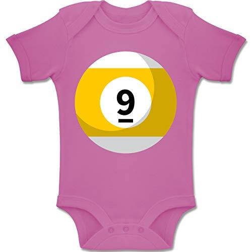 Friend 2 Kostüm Best - Shirtracer Karneval und Fasching Baby - Billardkugel 9 Kostüm - 1-3 Monate - Pink - BZ10 - Baby Body Kurzarm Jungen Mädchen