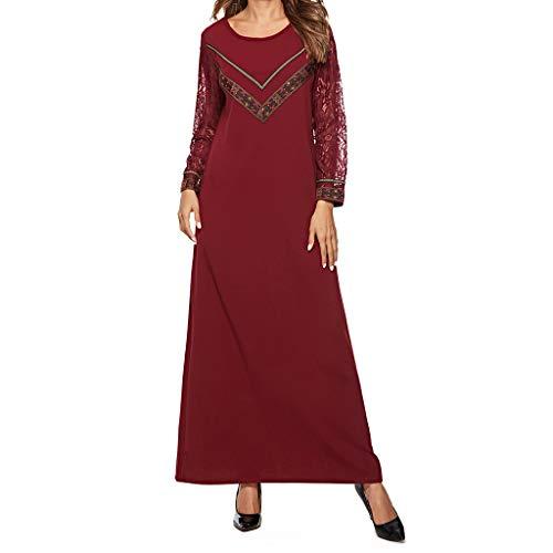 Makefortune 2019 Muslimische Kleider Damen, Muslim Kleidung Frauen, islamisch Robes Arabien Maxi Kleid Trompetenärmel Türkei Kirche Ethnische Kleidung Kaftan Apparel Abaya Mädchen Verschleiß Ramadan