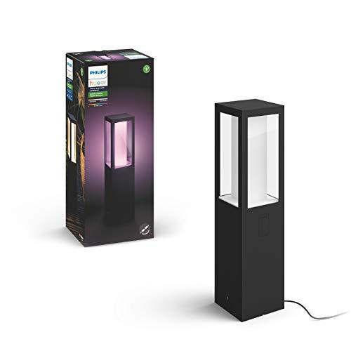 Philips Hue White and Color Ambiance LED Sockelleuchte Erweiterung Impress, für den Aussenbereich, dimmbar, bis zu 16 Millionen Farben, steuerbar via App, kompatibel mit Amazon Alexa (Echo, Echo Dot) - Leuchte Mit Niedervolt-beleuchtung