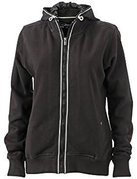 James & Nicholson–Chaqueta con capucha N9294, mujer, Hooded Jacket, negro, S