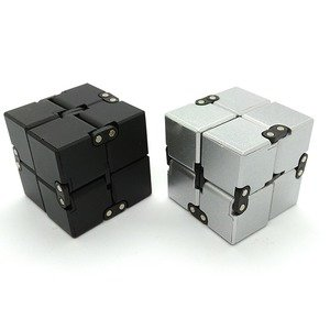 Moonlight Show Infinity Cube Fidgets Toys For Adult Child - Grey & Black