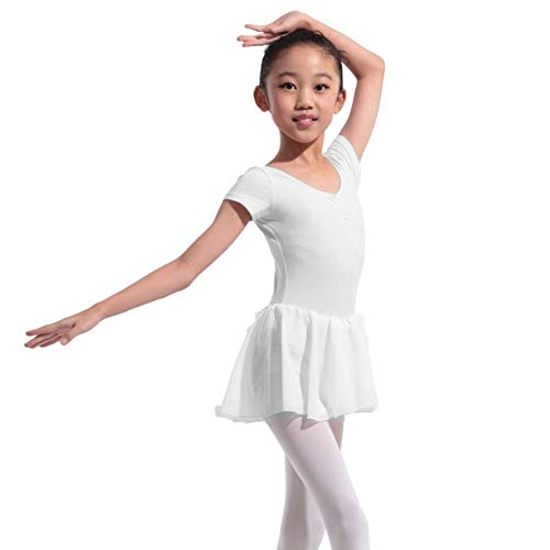 Blaward Bambine Tutu Danza Abiti Manica Lunga Ginnastica Leotard Un Pezzo Abbigliamento Sportivo Bambina per Danza e Atletica 4 14 Anni