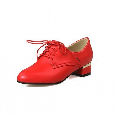 pwne Donna Oxfords Primavera Estate Autunno Inverno Comfort Novità Sintetici Pu Wedding Office &Amp; Carriera Partito Informale &Amp; Sera Dresschunky Tacco US4.5 / EU36 / UK3.5 Big Kids