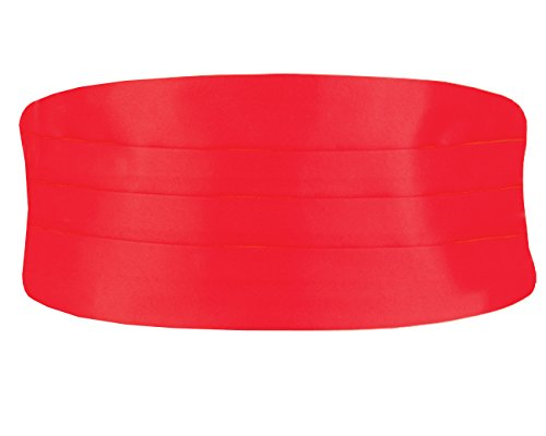 Dobell Herren Klassischer Kummerbund Verstellbar Rot Extra groß