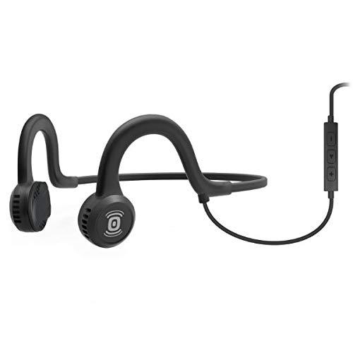 Aftershokz Sportz Titanium Câblé Casque à Conduction Osseuse Écouteur Bluetooth pour Conduite Sport avec Microphone, Gris