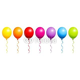 adrium Poster image 60 x 20 cm: Colored Balloons Rainbow, image Poster
