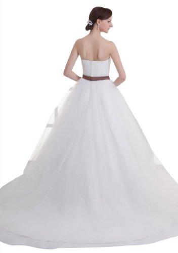 GEORGE BRIDE - Robe de mari¨¦e princesse royale classique sans bretelles orn¨¦e de n?ud papillon Blanc